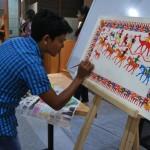 Art-pitara_-Pithora-artist-working-during-the-workshop