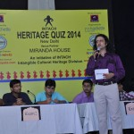 Delhi Heritage Quiz_quizmaster taking the quiz