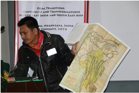 Mr. Bipin Debbarma of TTAADC making his presentation